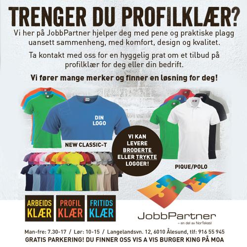 Jobbpartner nettboard 2 tshirts