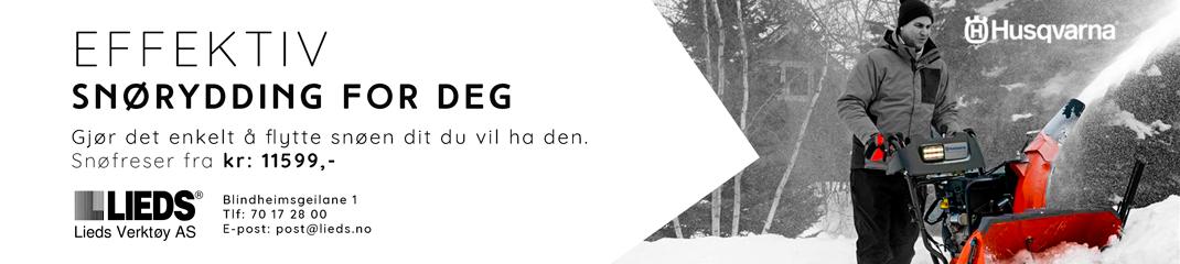 Lieds Verktøy snøfreser banner