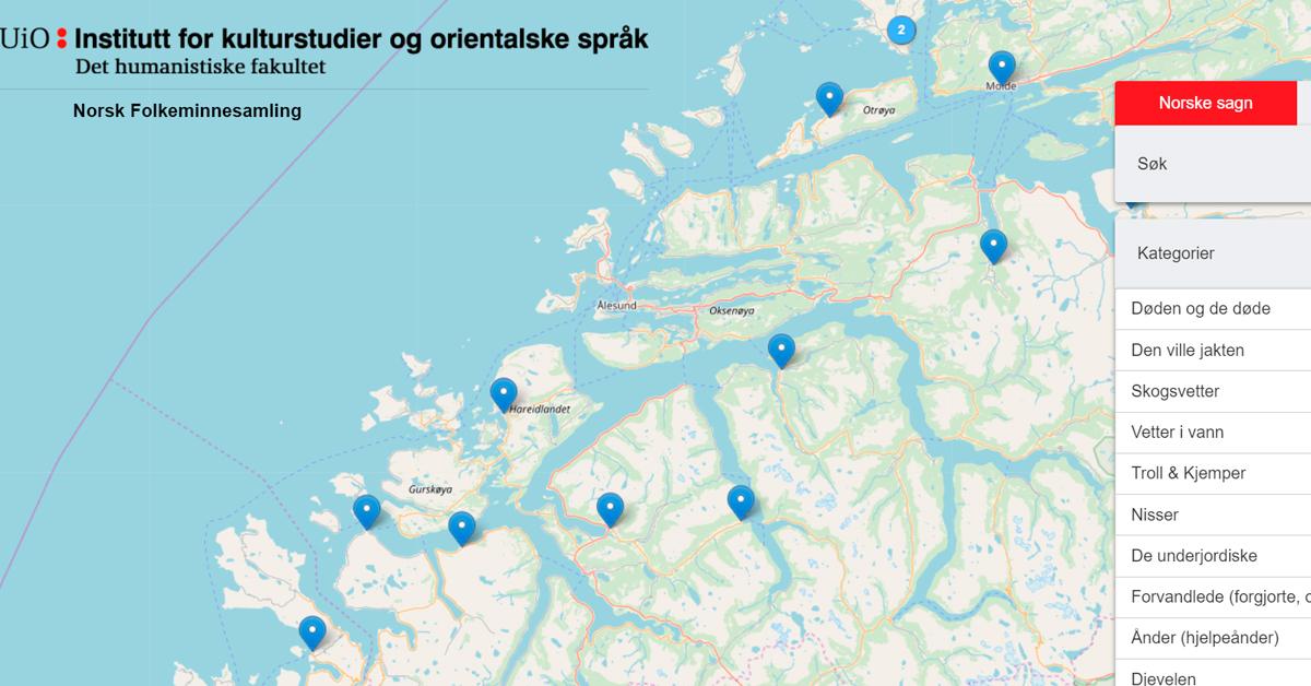 kart sunnmøre Her er kartet over hekser og troll på Sunnmøre   Maxlokal.no kart sunnmøre